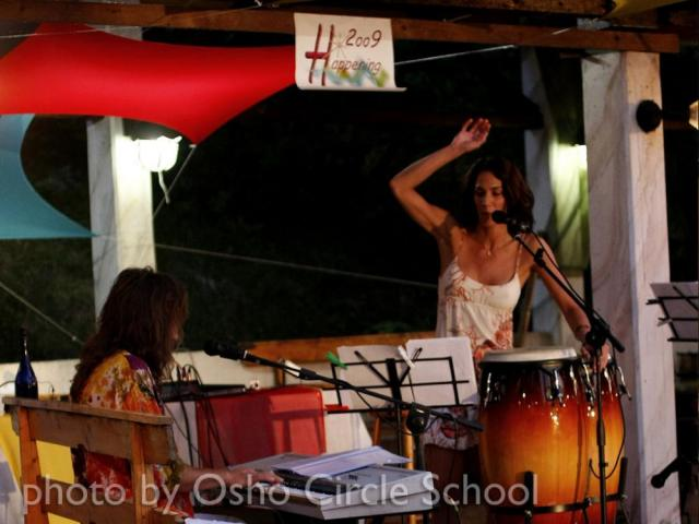 Osho-circle-school cuban drum concert