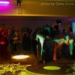 Osho-circle-school vinyl dance party in Buddha Hall