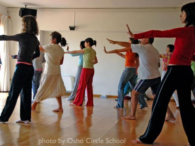 Osho-circle-school meditation 01